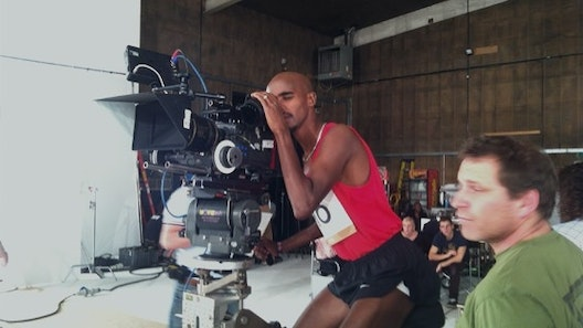 Us working with Mo Farah... 1