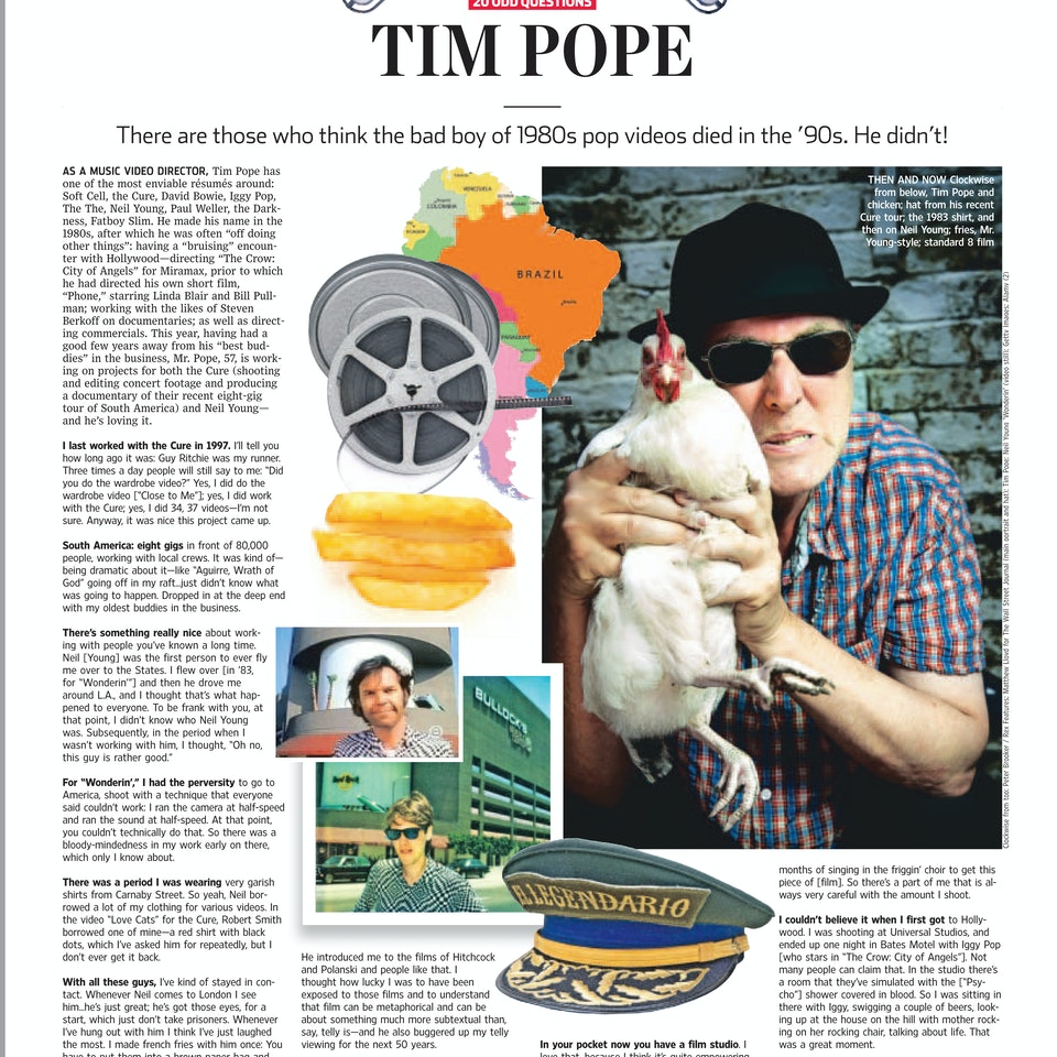 TIM POPE DIRECTOR HOME - Wall Street Journal, July, 2013