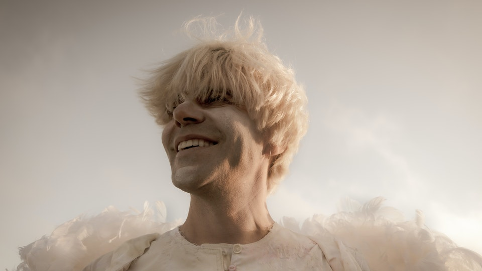 "Tim Burgess ""Ascent of the Ascended"" - Photograph by Richard Lynch."