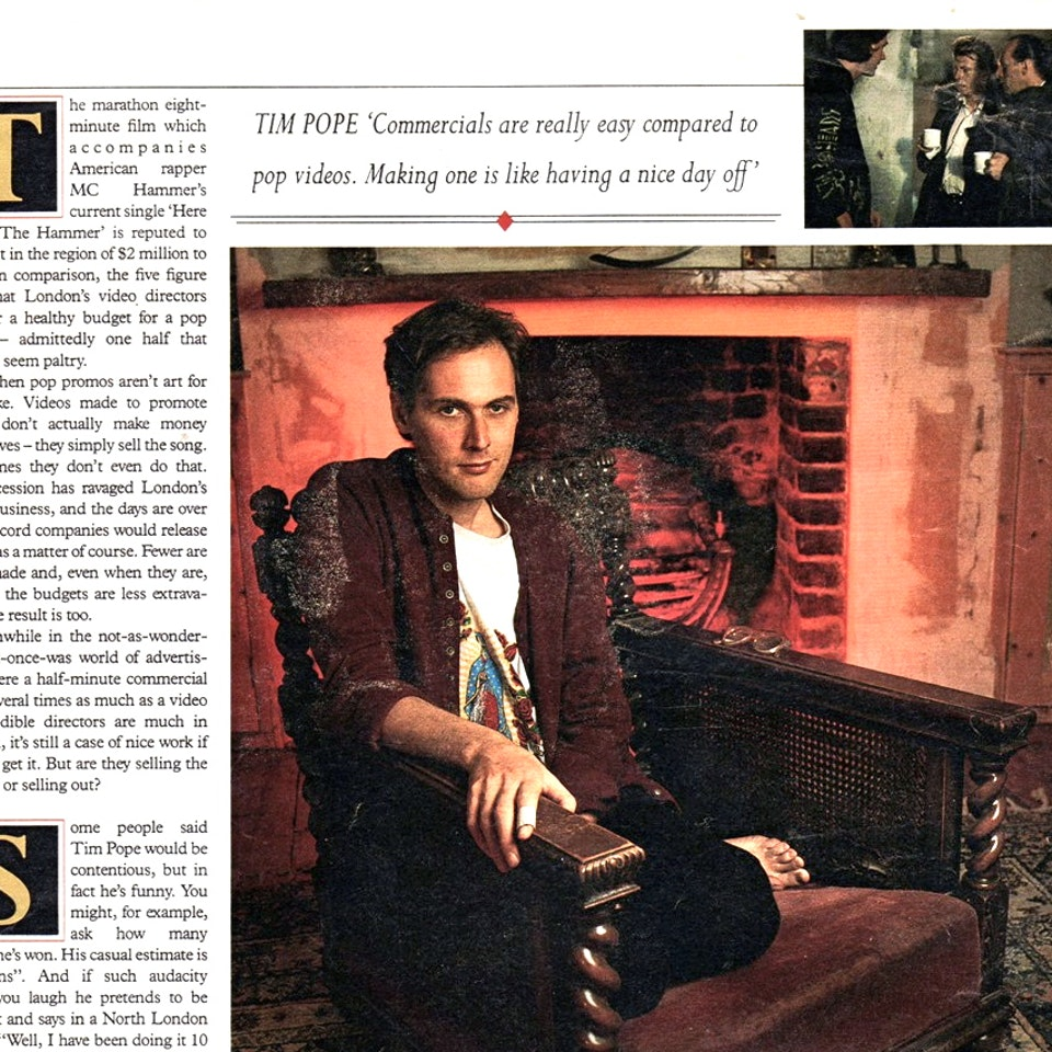 TIM POPE DIRECTOR HOME - Sunday Times Magazine, April 7th, 1991