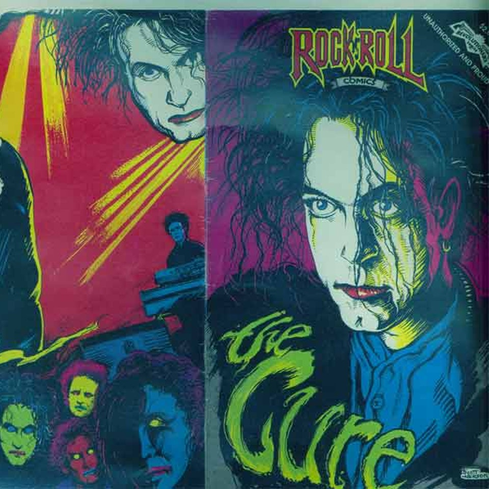 """TIM POPE DIRECTOR HOME - The Cure """"RockRoll"""" comic book"""