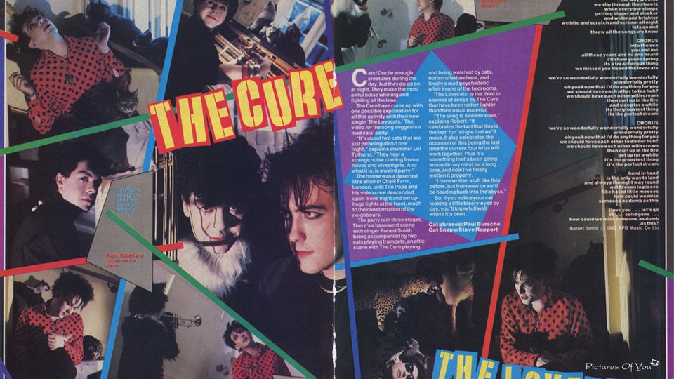 "The Cure ""The Lovecats"" - Smash Hits, October, '83."