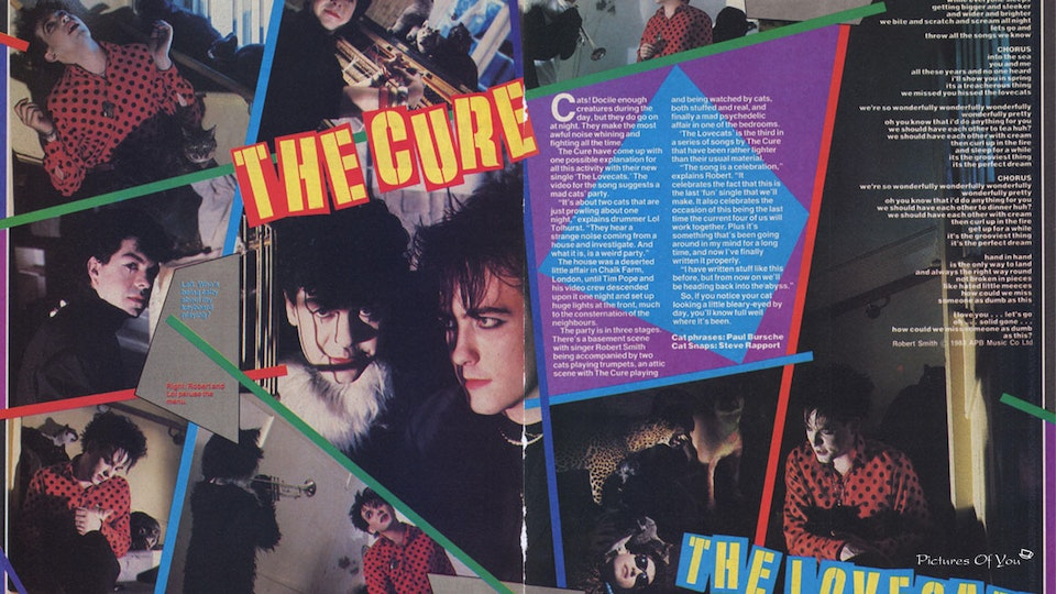 THE CURE THE LOVECATS - October, '83, Smash Hits.