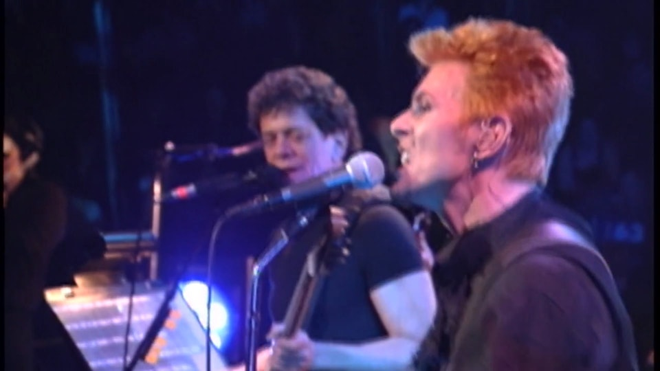 DAVID BOWIE 50TH BIRTHDAY CONCERT EXCERPTS WITH THE FOO FIGHTERS & LOU REED