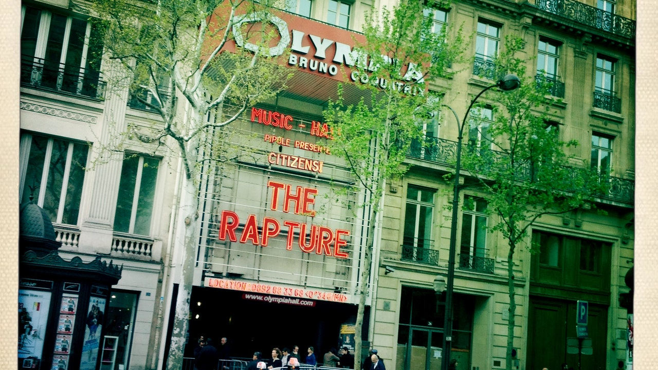 IGGY POP CONCERT OPENING TITLES/RAW POWER - Walking through Paris in September, 2012, I suddenly chanced upon the theatre...