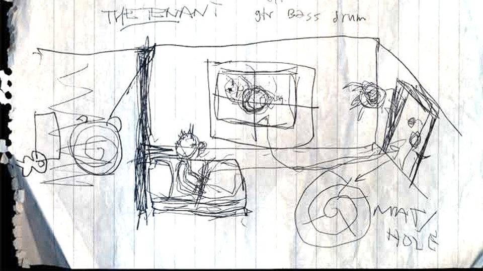 "THE CURE LULLABY - Robert's drawings for video, based on Polanski's ""The Tenant"""