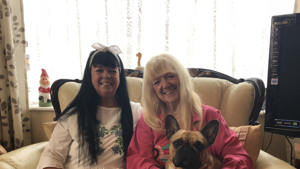 """Trailer for """"Sheridan Smith: Coming Home"""" documentary for ITV - Sheridan's mum in pink, Marilyn, and fab'lus Auntie Linda from Wales. The dog's called Dolly Parton."""