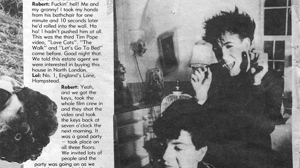 THE CURE THE LOVECATS - Melody Maker, Feb 22, 1986.