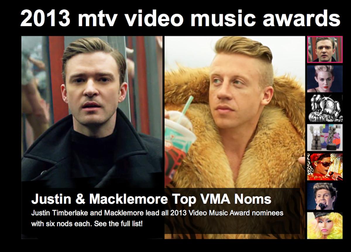 Two MTV VMA nominations!