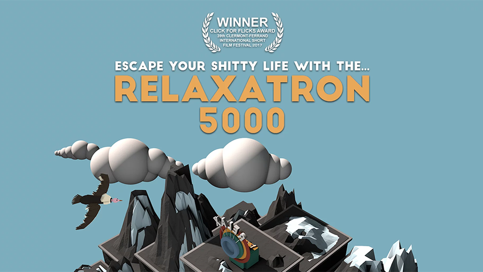 ANDREW BRAND - Director / Motion Designer - 'Relaxatron 5000' wins 'Click for Flicks' award