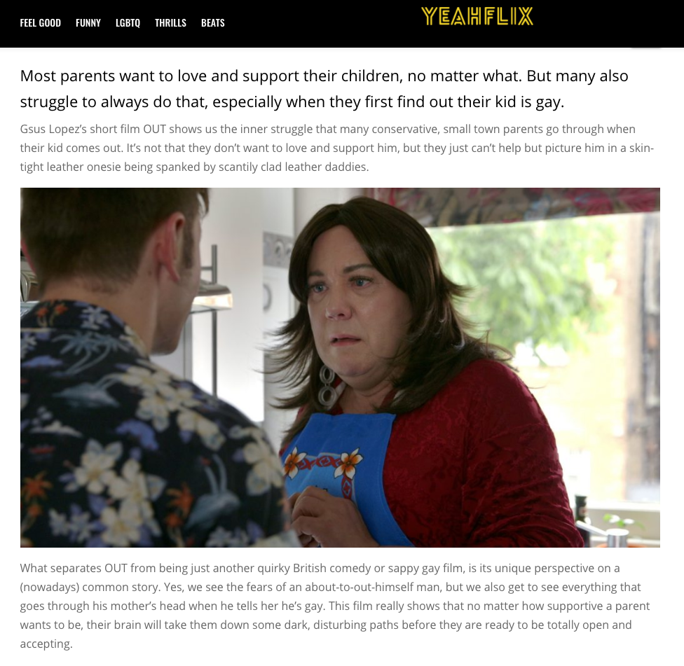 OUT review on Yeahflix