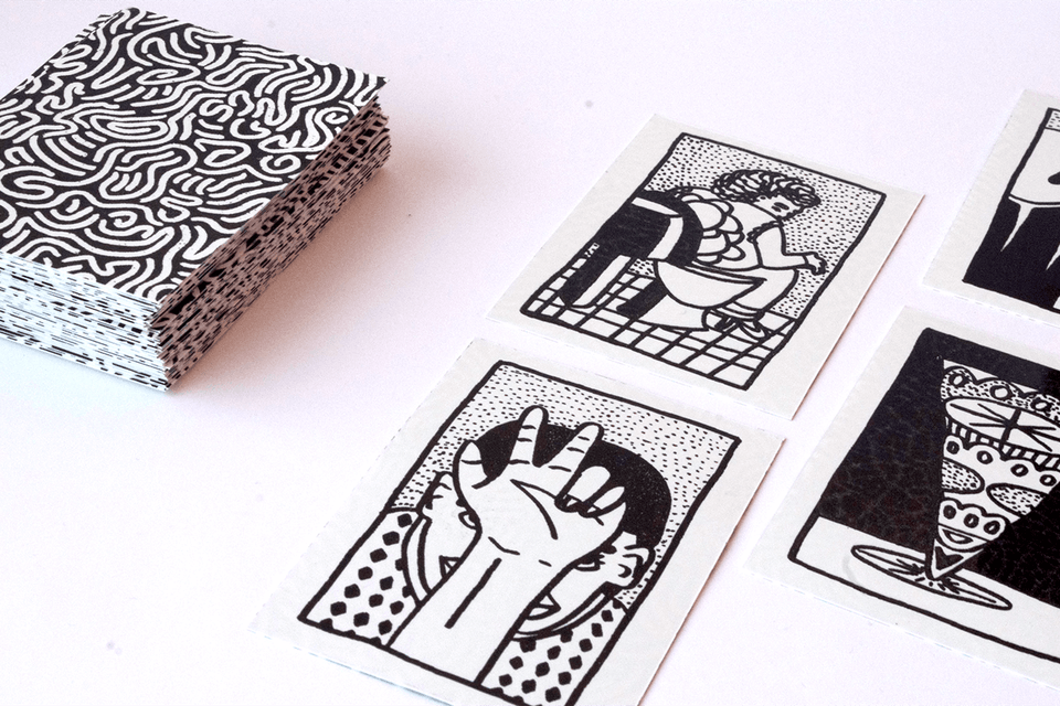 KINGZ - The cards were screenprinted with waterproof ink on heavy water-resistand stone paper.