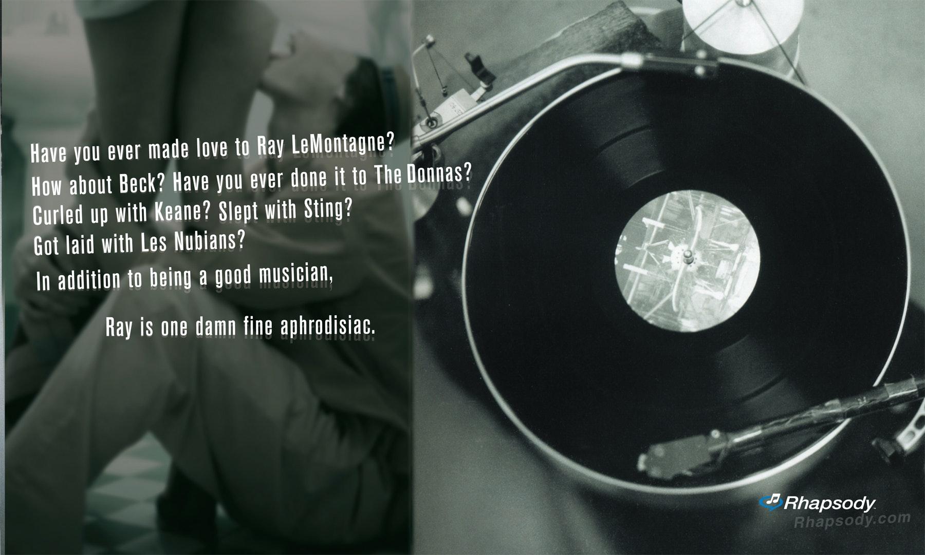 Rhapsody.com Ray LeMontagne Print