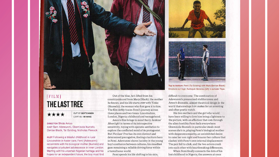 Big Buoy - EMPIRE MAGAZINE WRITE LAUDATORY REVIEW FOR 'THE LAST TREE' IN OCTOBER ISSUE
