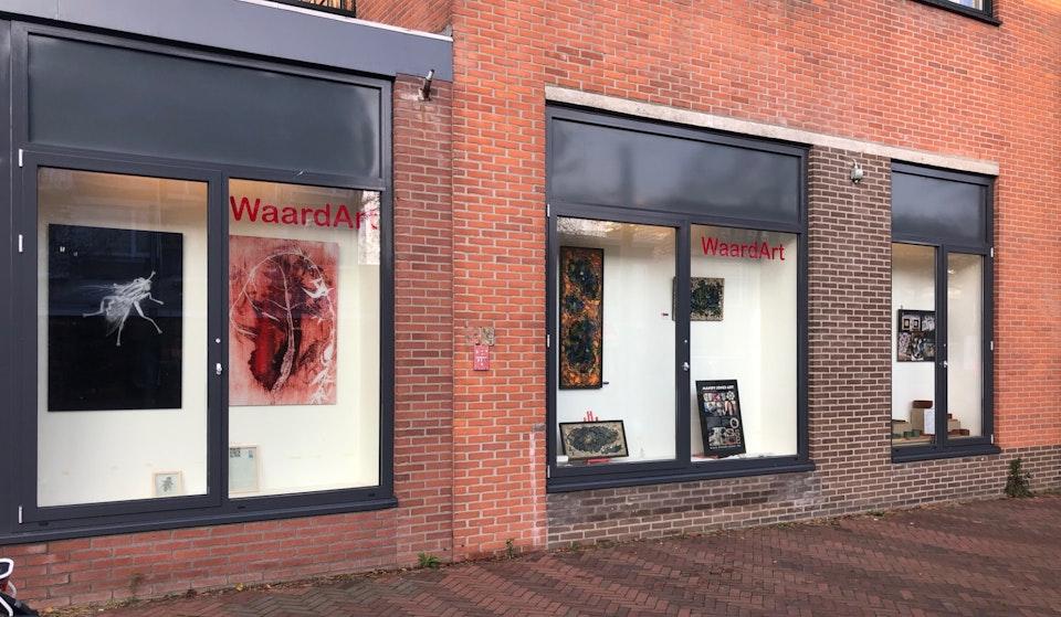 waardart vitrine markt -