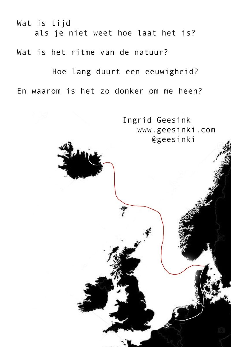 route ijsland-achterflap wat is tijd -