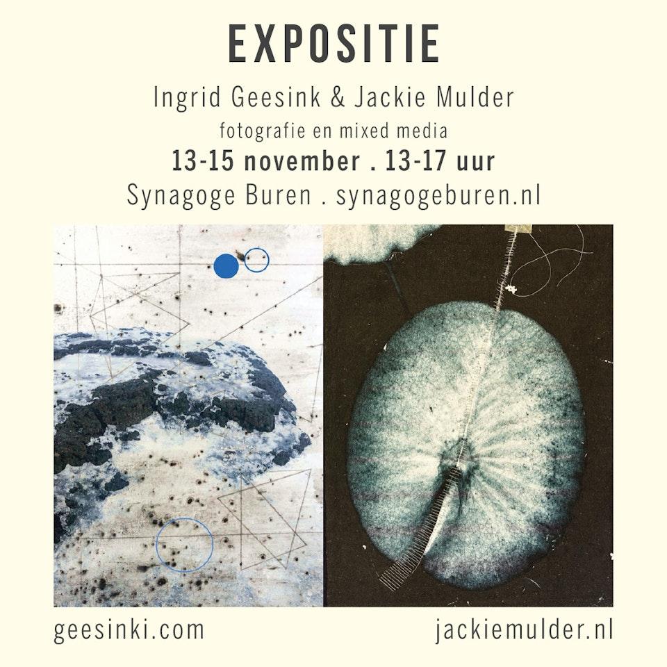 Flyer expo Jackie en Ingrid -