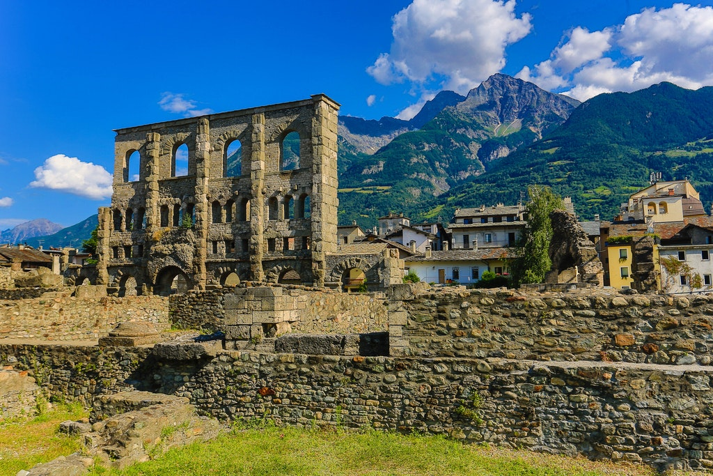 The Roman ruins of Aosta