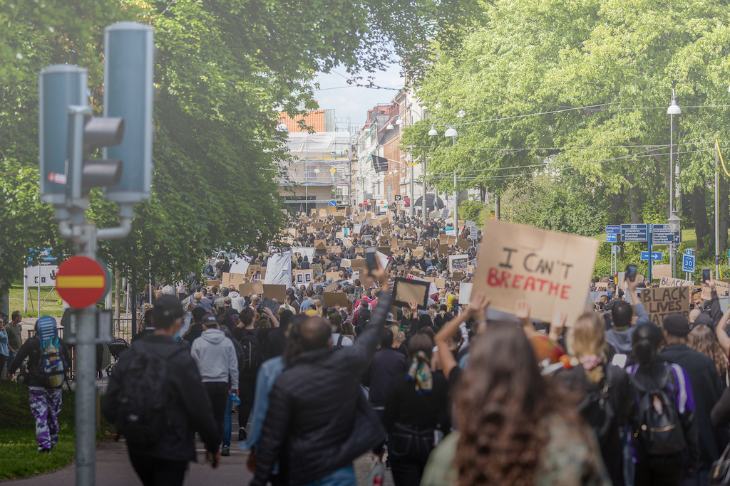 Gothenburg's protest for George Floyd