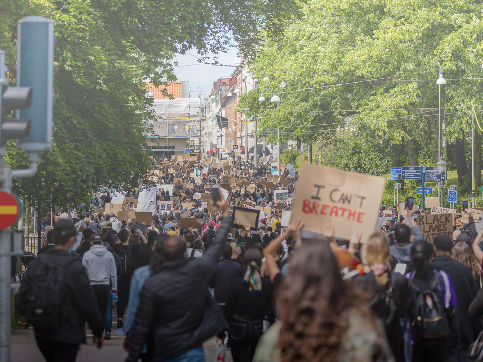 A Tog's Trek - Gothenburg's protest for George Floyd