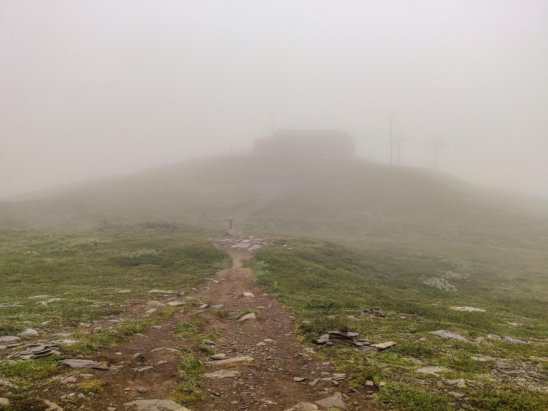 Hemavan Ski Station in the mist