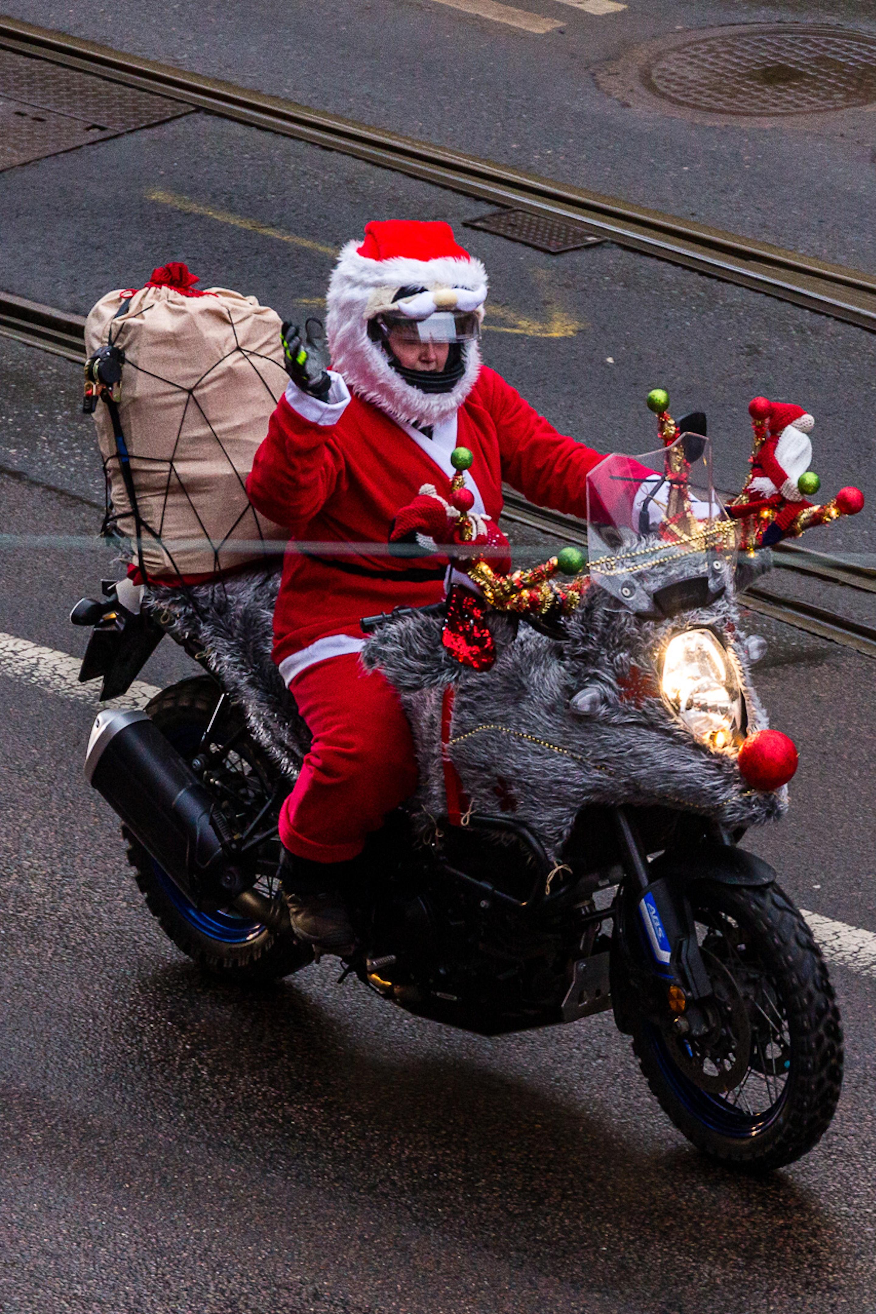 Motorcycle Santas