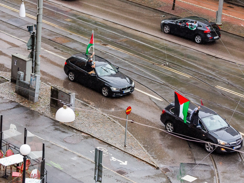 A Tog's Trek - Driving protest for Palestine