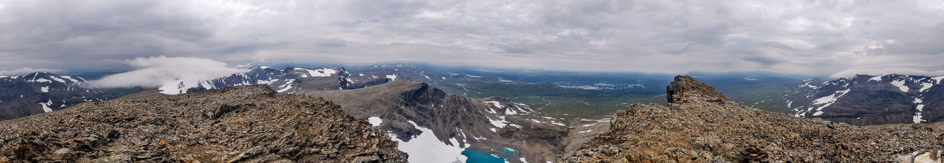 Panorama from the top of Norra Sytertoppen