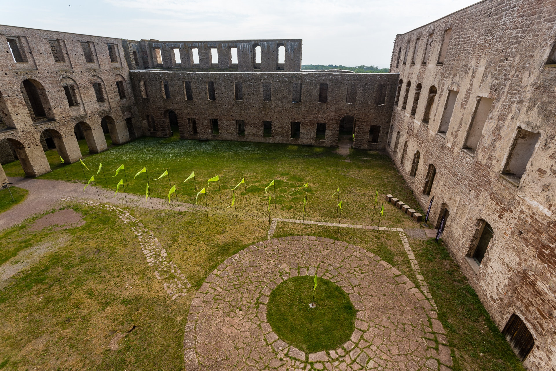 Borgholms Slott Courtyard
