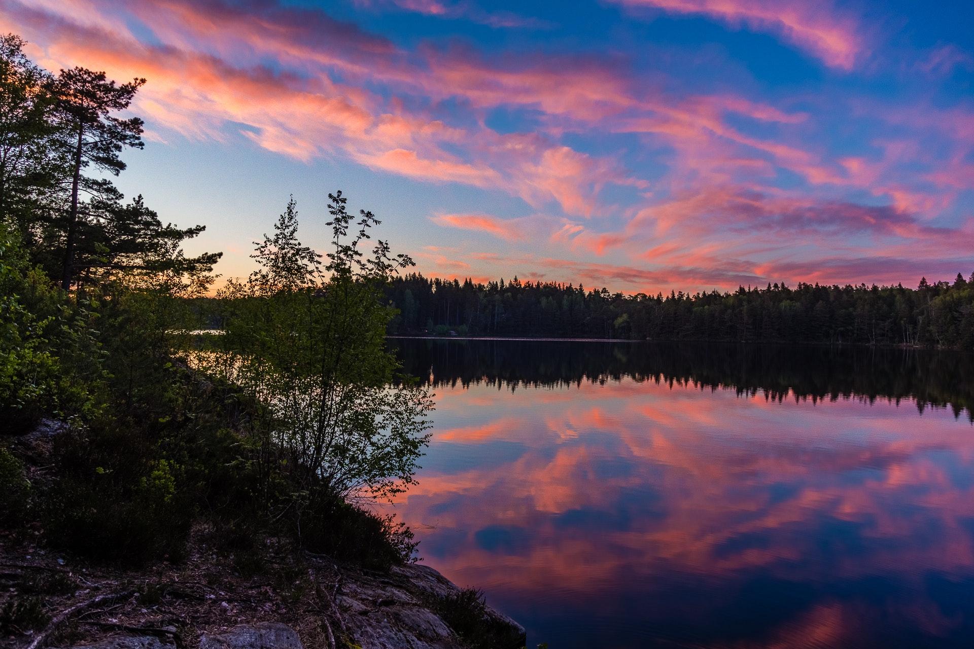 Sunset over Stora Kroksjön