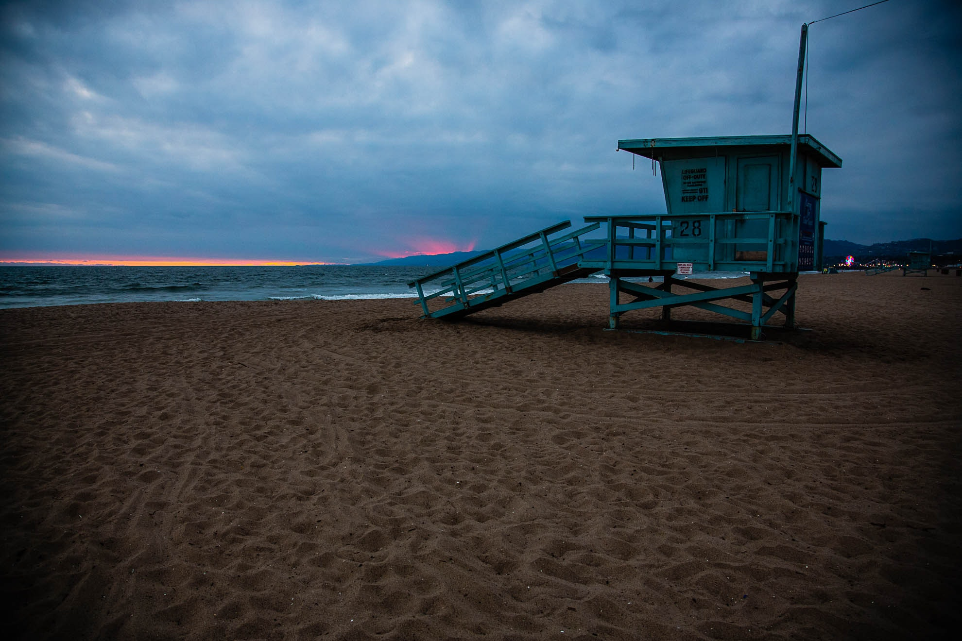 Venice Beach Sunset - With Hut