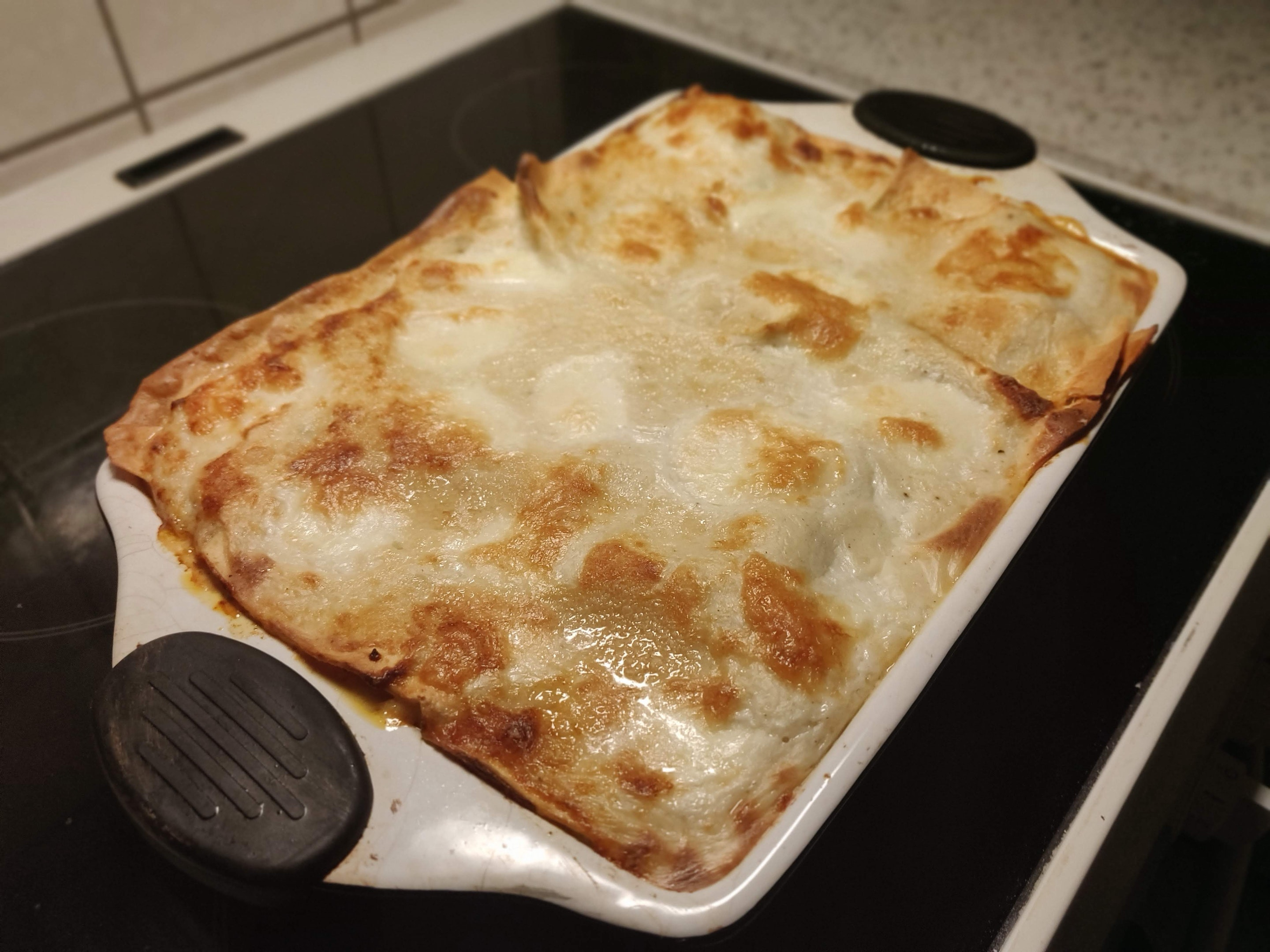 The finished lasagna