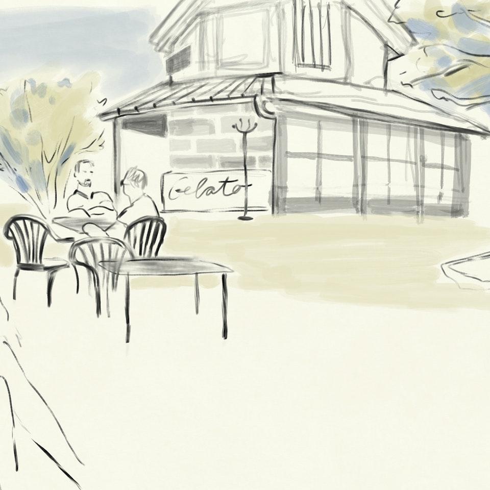 cityscapes Cafe-Meierei-Volksgarten