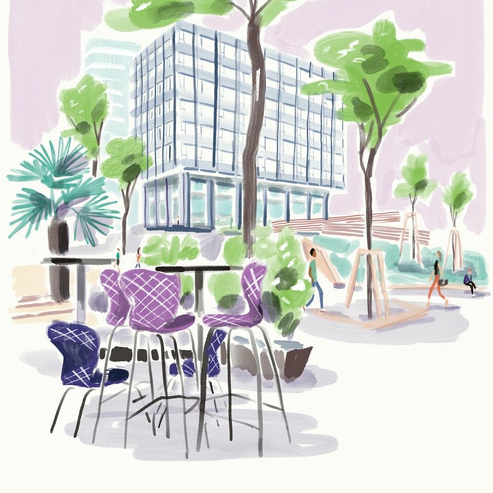 cityscapes Cafeterrasse_Novotel_am_Hbf