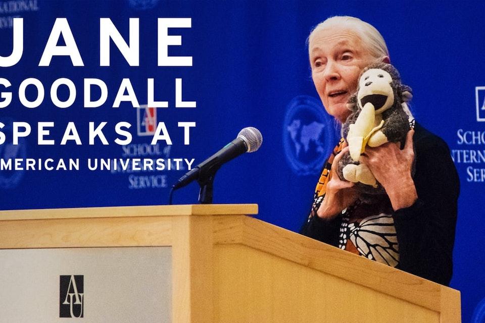 Jane Goodall Visits American University -