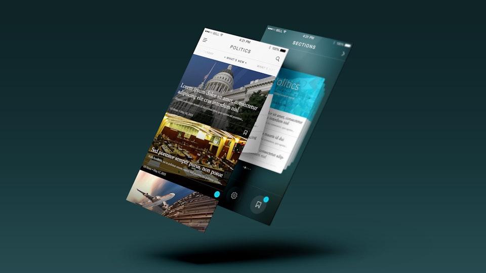 News Mobile App UI