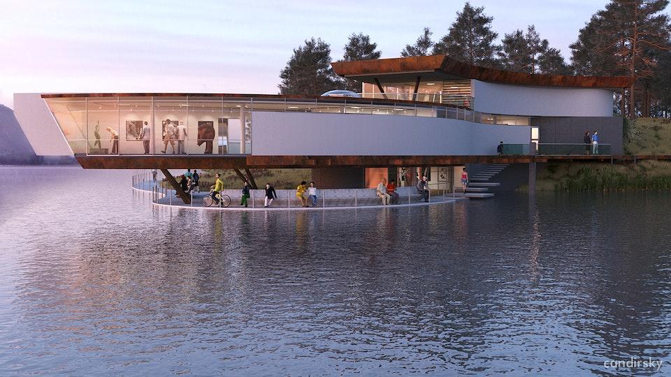 Art center at the lake