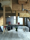 Wooden mezzanine