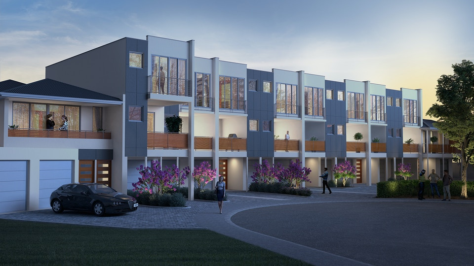 Townhouses exterior viz