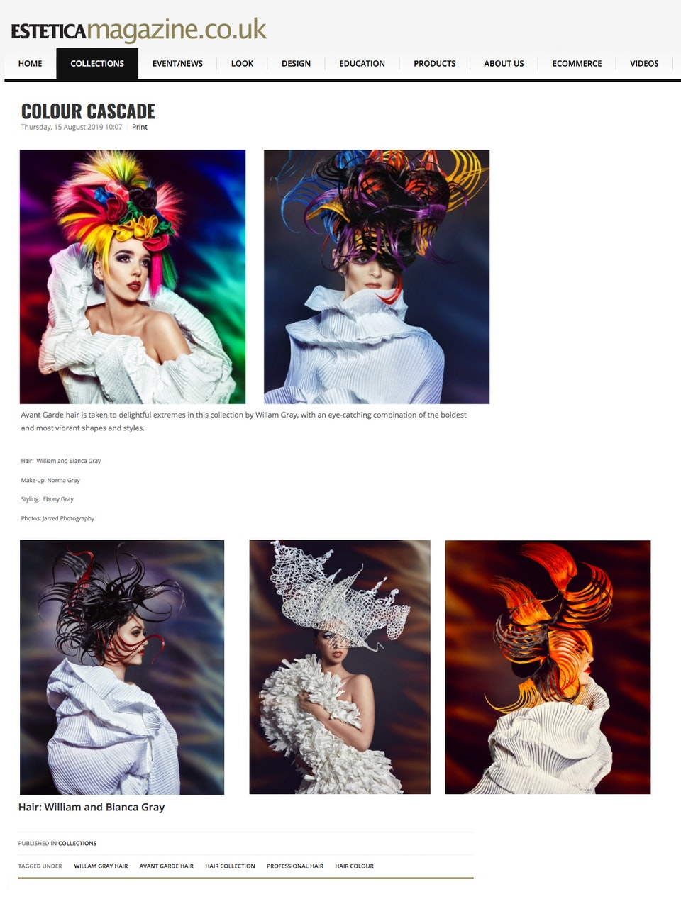 JARRED Photography - ESTETICA MAGAZINE - GRAYS INTERNATIONAL FEATURE