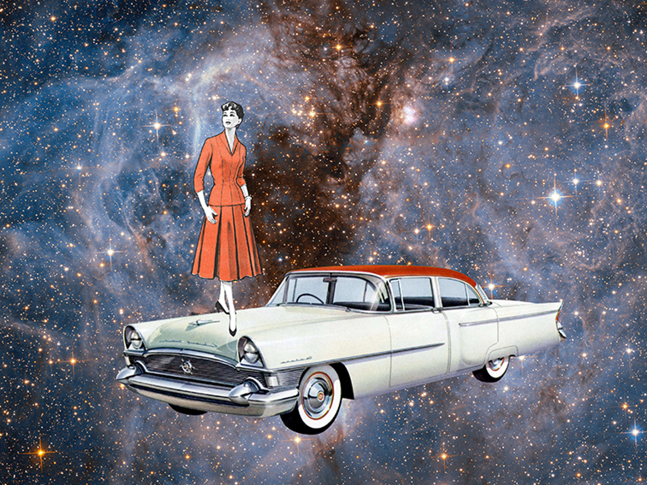 Autonomous car around the Universe