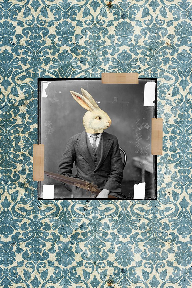 El Conejo Blanco cazador