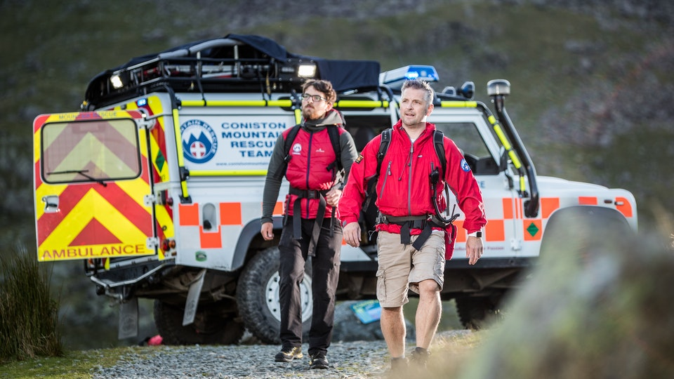 General Commercial Photography - An evening spent with some of the team from Coniston Mountain Rescue, image used to promote and raise awareness of the charity and the work they do helping others on the fells.