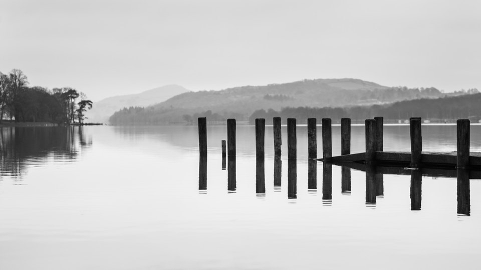 General Commercial Photography - Calm over Coniston, a commission for a Lake District client.