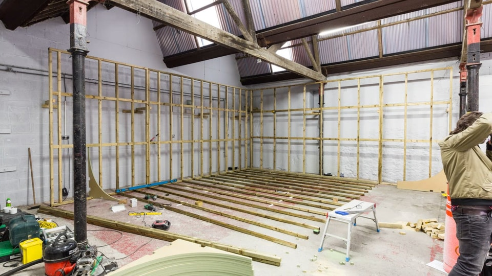 #bts Behind the Scenes - Time-lapse of the wood and co studio, infinity cove is around 600sq ft!
