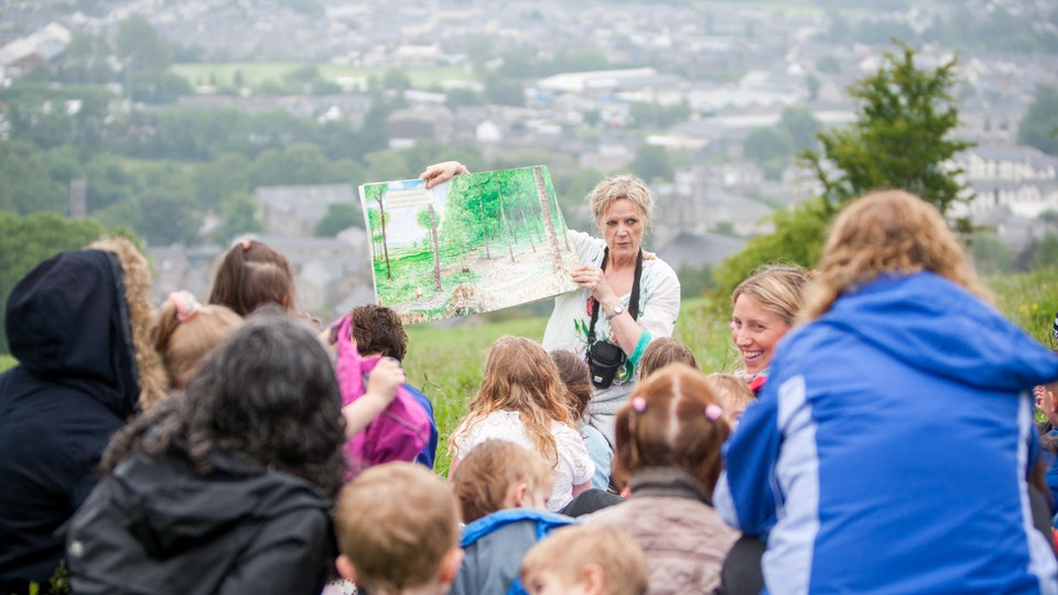 General Commercial Photography - A walk out with the children and staff from Brantfield, Kendal Nursery School, in their outdoor classroom on 'The Nights' in Kendal.