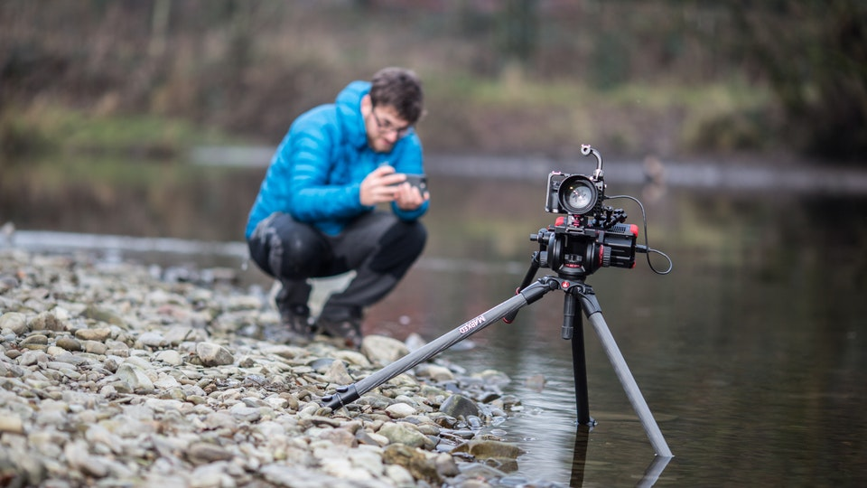 #bts Behind the Scenes - Jago Miller, one of Wood & Co's associates on location, he was very proud of his tripod placement!