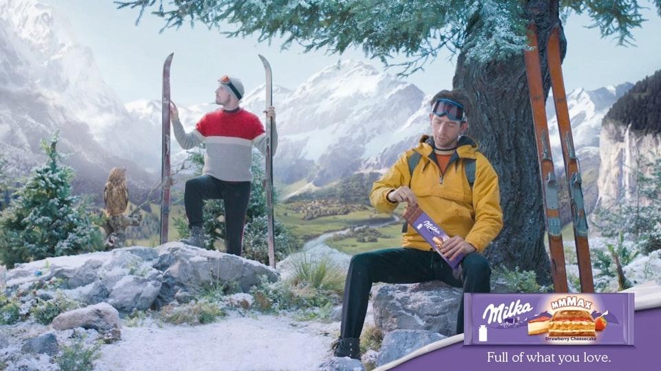 Glassworks - Milka Mmmax - 'Skiing / Cards / Campfire / Banjo'