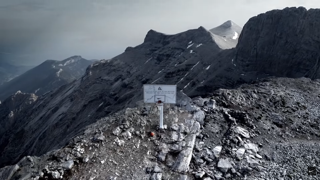 Nike Put a Basketball Hoop on Mt. Olympus to Honour Giannis Antetokounmpo