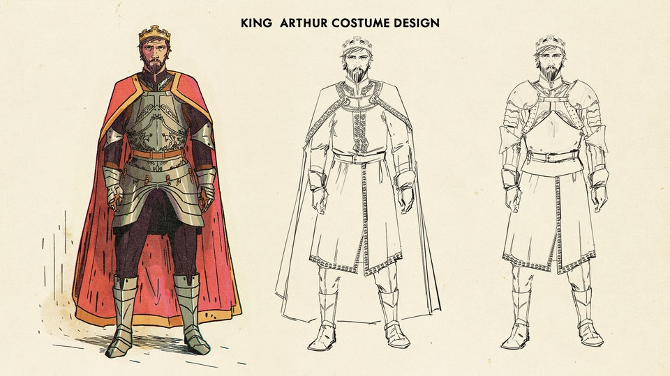 The Kid Who Would Be King (Prologue) Costume  Design - King Arthur